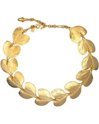 """Kenneth Jay Lane - 20"""" Satin Gold Branch And Leaf Necklace - Lyst"""