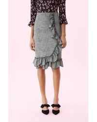 Rebecca Taylor - Plaid Ruffle Skirt - Lyst