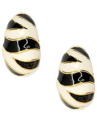 Kenneth Jay Lane - Tiger Stripe Pierced Or Clip Earrings - Lyst
