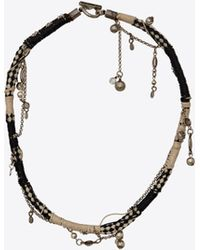 f60c92c774fc5 Saint Laurent Choker In Black And Gold Steel in Black - Lyst