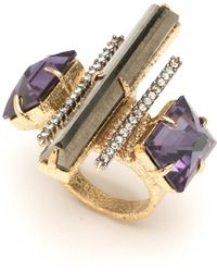 Alexis Bittar - Triple Stone Cocktail Ring - Lyst