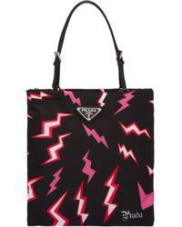 f87d7dc6bb Lightning Print Nylon Handbag