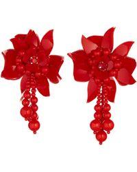 Oscar de la Renta - White Flower Field Earrings - Lyst