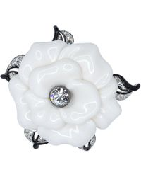 Kenneth Jay Lane - White Resin Flower Pin - Lyst
