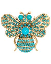 Kenneth Jay Lane - Turquoise Bee Pin - Lyst