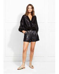 Rachel Zoe - Elisa Paper Leather Shorts - Lyst