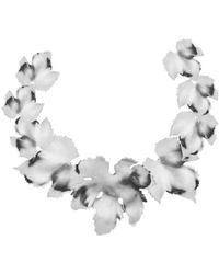 Oscar de la Renta - Grape Leaf Necklace - Lyst