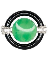 Kenneth Jay Lane - Jade Center Deco Pin - Lyst