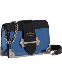 fcb516d52913 Lyst - Prada Cahier Leather Chain Shoulder Bag