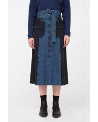 Sea - Bleu Denim Skirt - Lyst