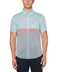 Original Penguin - Color Block Lawn Shirt - Lyst