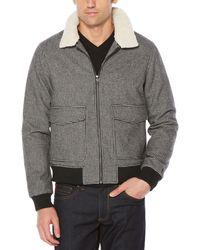 Original Penguin - Sherpa Collar Houndstooth Jacket - Lyst