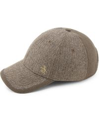 2d7d49f6e98 Lyst - Borsalino Herringbone Virgin Wool-blend Baseball Cap in Gray ...