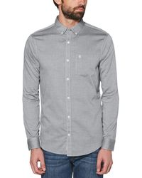 Original Penguin - Long Sleeve Iridescent Shirt - Lyst
