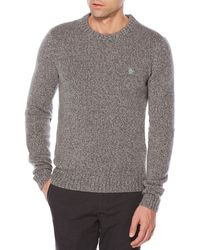 Original Penguin - Twisted Yarn Crew Sweater - Lyst