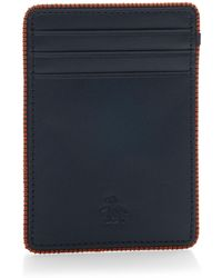 Original Penguin - Color Stitching Edge Card Case - Lyst