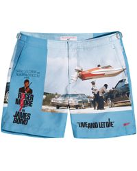 Orlebar Brown - Bulldog 007 Live And Let Die Mid-length Swim Shorts - Lyst