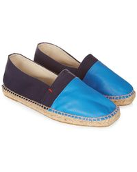 Orlebar Brown | Sutton Espadrille In Navy/ocean | Lyst