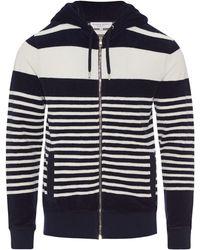 Orlebar Brown - Mathers Navy/White Striped Hooded Sweatshirt - Lyst