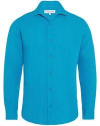 Orlebar Brown - Meden Azure Classic-fit Shirt - Lyst