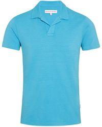 Orlebar Brown - Felix Slub Cotton Resort-polo In Light Azure - Lyst
