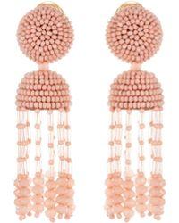 Oscar de la Renta - Short Tassel Earrings - Lyst