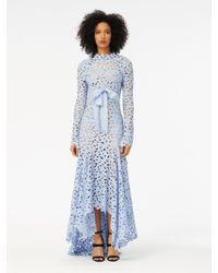 Oscar de la Renta - Flower Scroll Guipure Lace Gown - Lyst