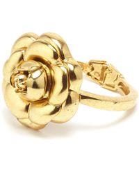Oscar de la Renta - Gold Gardenia Cuff - Lyst