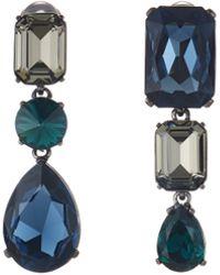 Oscar de la Renta - Bold Crystal Earrings - Lyst