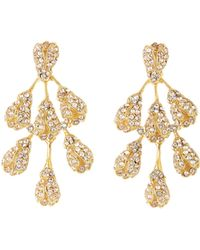 Oscar de la Renta - Vine Drop Crystal Earrings - Lyst
