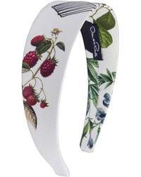 Oscar de la Renta - Flower Pots On Mikado Headband - Lyst