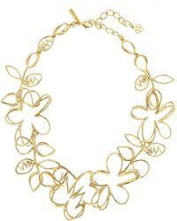 Oscar de la Renta - Gold Botanical Scribble Necklace - Lyst