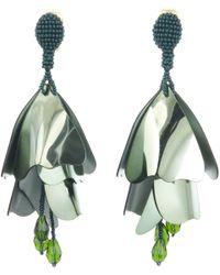 Oscar de la Renta - Fern Large Impatiens Flower Drop Earrings - Lyst