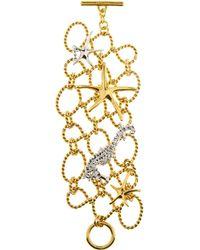 Oscar de la Renta - Fishnet Star Fish Bracelet - Lyst