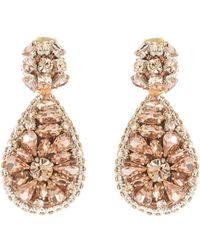 Oscar de la Renta - Jeweled Teardrop Earrings - Lyst