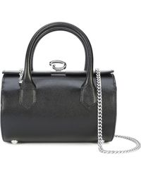 Oscar de la Renta - Black Saffiano Mini Battery Bag - Lyst