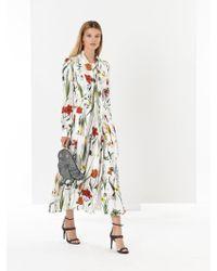 Oscar de la Renta - Flower Harvest Silk-twill Shirtdress - Lyst
