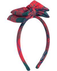 Oscar de la Renta - Holiday Plaid Headband - Lyst