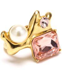Oscar de la Renta - Vintage Rose Coral Crystal Ring - Lyst