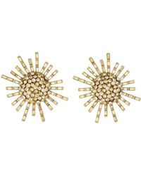 Oscar de la Renta - Jeweled Flower Earrings - Lyst