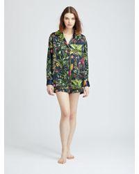 Oscar de la Renta - Toucan Jungle Silk-charmeuse Pyjama Shirt - Lyst