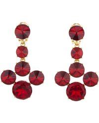 Oscar de la Renta - Scarlet Rivoli Stone Earrings - Lyst