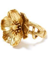 Oscar de la Renta - Poppy Flower Bracelet - Lyst