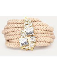 Sabrina Dehoff   Chunky Cord Bracelet With Swarovski Plate   Lyst