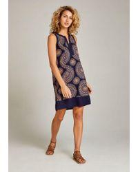 Apricot Sommerkleid »Floral Circle Burst Midi Tunic Dress« mit Spitzeneinsatz am Ausschnitt