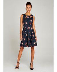 Apricot Druckkleid »Cut Out Neck Floral Polkadot Dress« mit Kellerfalten