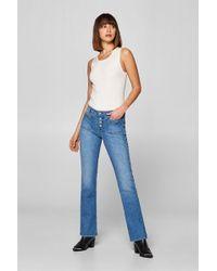 Esprit Bootcut-Stretch-Jeans mit Knopfleiste