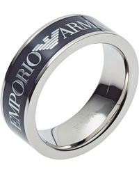 Emporio Armani - Fingerring »EGS2607040« mit Epoxidharz - Lyst