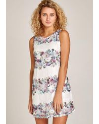Apricot Etuikleid »Floral Stripe & Rose Lace Dress« in feiner Spitze