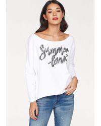 Cotton Candy Sweatshirt »Bente« mit Pailletten